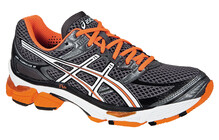 Asics Men's Gel Cumulus 13 titanium white electric orange